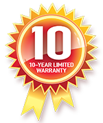 10 year Limited Warranty