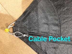 Cable Pockets are a wire reinforcement inside a fabric sleave or pocket.