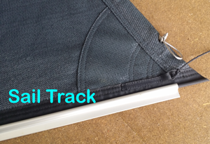 Sail Track is an aluminium extrusion which attaches the shade sail directly to a beam or wall, along the full track length.